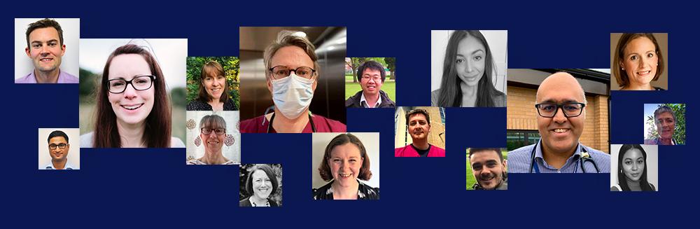 Photo collage featuring various memebers of the CFHealthHub team